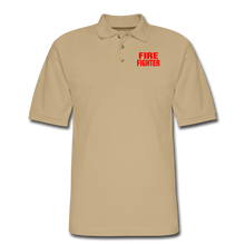 Load image into Gallery viewer, FIRE FIGHTER Men's Pique Polo Shirt - beige