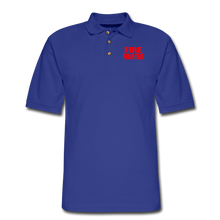 Load image into Gallery viewer, FIRE FIGHTER Men's Pique Polo Shirt - royal blue