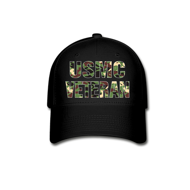 USMC VETERAN Cap - black