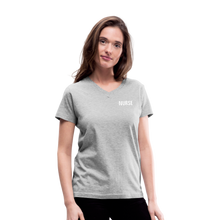 Load image into Gallery viewer, Women's V-Neck T-Shirt - gray