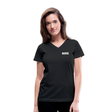 Load image into Gallery viewer, Women's V-Neck T-Shirt - black
