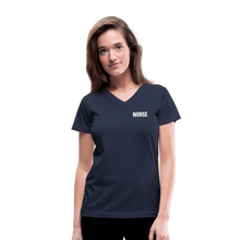 Load image into Gallery viewer, Women's V-Neck T-Shirt - navy