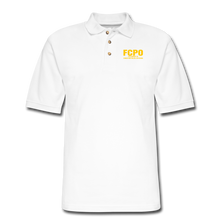 Load image into Gallery viewer, FCPO Men's Pique Polo Shirt - white