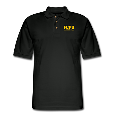 FCPO Men's Pique Polo Shirt - black