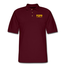 Load image into Gallery viewer, FCPO Men's Pique Polo Shirt - burgundy