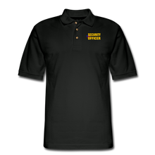 Load image into Gallery viewer, SECURITY OFFICER Pique Polo Shirt - black