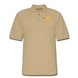 SECURITY OFFICER Pique Polo Shirt - beige