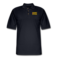 Load image into Gallery viewer, SECURITY OFFICER Pique Polo Shirt - midnight navy