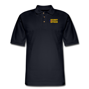 SECURITY OFFICER Pique Polo Shirt - midnight navy