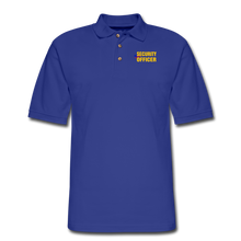 Load image into Gallery viewer, SECURITY OFFICER Pique Polo Shirt - royal blue