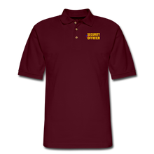 Load image into Gallery viewer, SECURITY OFFICER Pique Polo Shirt - burgundy