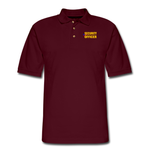 SECURITY OFFICER Pique Polo Shirt - burgundy