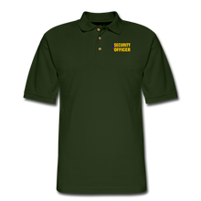 Load image into Gallery viewer, SECURITY OFFICER Pique Polo Shirt - forest green