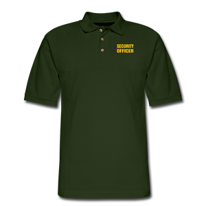 SECURITY OFFICER Pique Polo Shirt - forest green