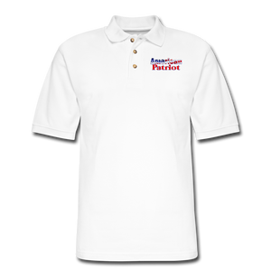 AMERICAN PATRIOT Men's Pique Polo Shirt - white