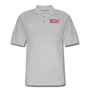 AMERICAN PATRIOT Men's Pique Polo Shirt - heather gray