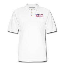 Load image into Gallery viewer, AMERICAN PATRIOT Men's Pique Polo Shirt - white