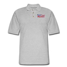 Load image into Gallery viewer, AMERICAN PATRIOT Men's Pique Polo Shirt - heather gray