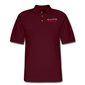 AMERICAN PATRIOT Men's Pique Polo Shirt - burgundy