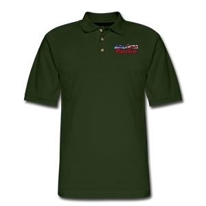 AMERICAN PATRIOT Men's Pique Polo Shirt - forest green