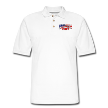 Load image into Gallery viewer, AMERICA FIRST Men's Pique Polo Shirt - white