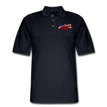 Load image into Gallery viewer, AMERICA FIRST Men's Pique Polo Shirt - midnight navy