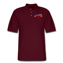 Load image into Gallery viewer, AMERICA FIRST Men's Pique Polo Shirt - burgundy