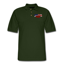 Load image into Gallery viewer, AMERICA FIRST Men's Pique Polo Shirt - forest green