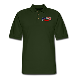 AMERICA FIRST Men's Pique Polo Shirt - forest green