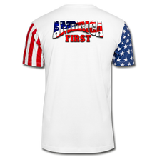 Load image into Gallery viewer, AMERICA FIRST Stars & Stripes T-Shirt - white