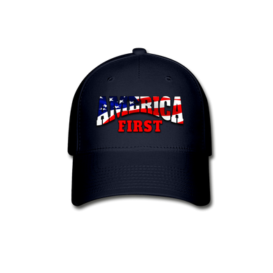AMERICA FIRST Baseball Cap - navy