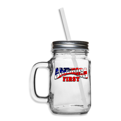 AMERICA FIRST Mason Jar - clear