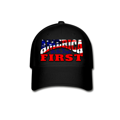 AMERICA FIRST Baseball Cap - black