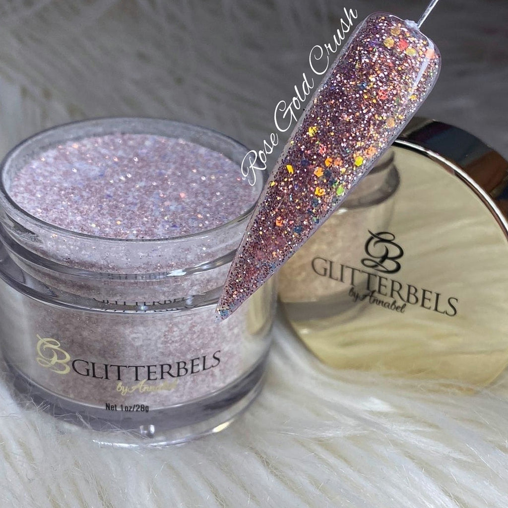 Rose Gold Crush Glitter - Glitterbels