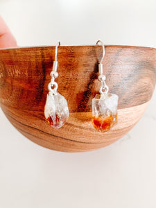 Citrine Point Earrings