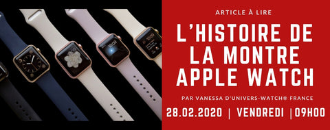 L'histoire de la montre Apple Watch | Univers-Watch