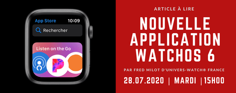 Nouvelle Application Apple Watch | Univers-Watch