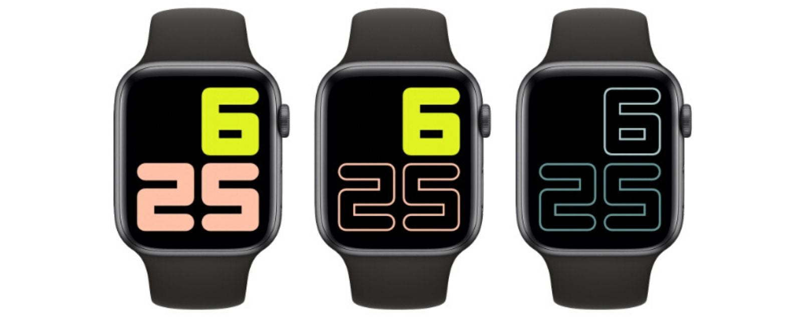 Apple Watch Serie 5 Cadran Numeral Duo