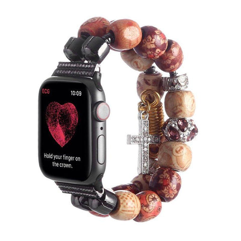 Bracelet Apple Watch <br /> Mala Tibétain - Univers-Watch