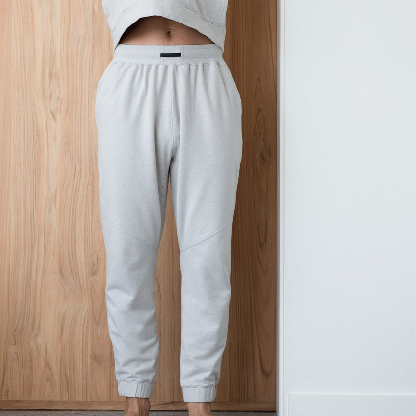 Second Image: Dreamy Wool Fleece Pant Lahgo Sleepwear Warm Pima Alpaca Fleece Pant - #Cloud/Eclipse