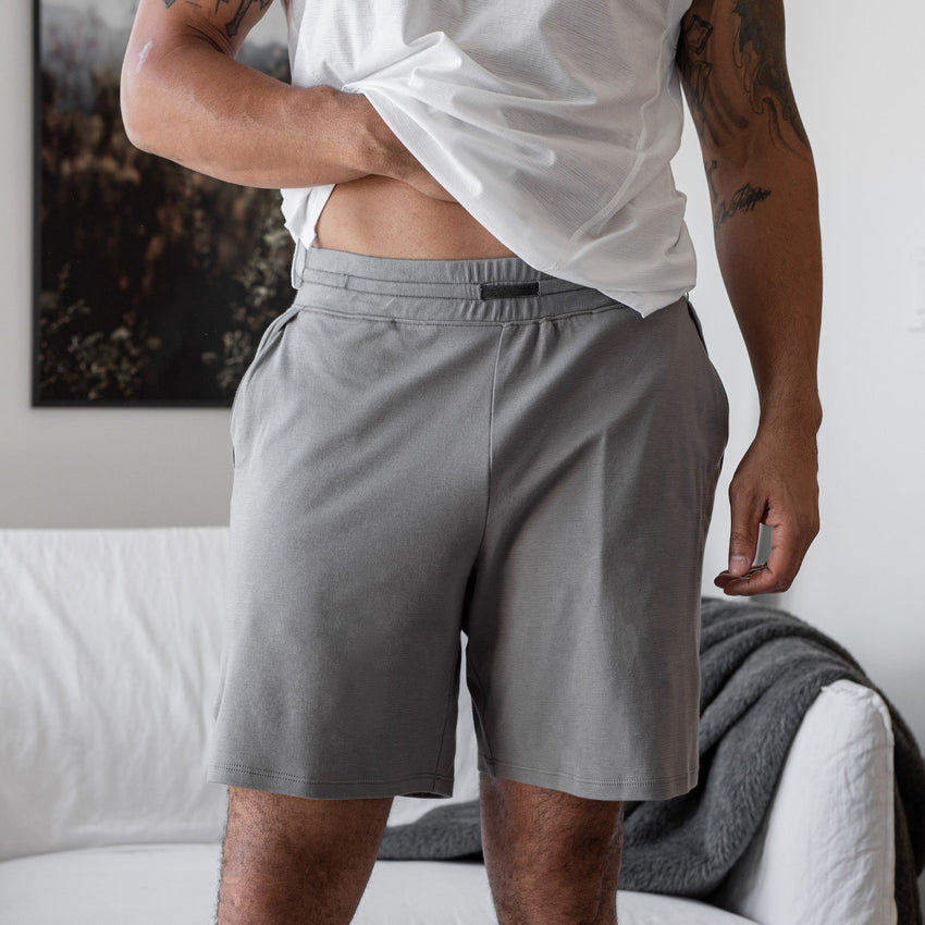 Second Image: Cool Short Lahgo Sleepwear Cool Short - #Slate