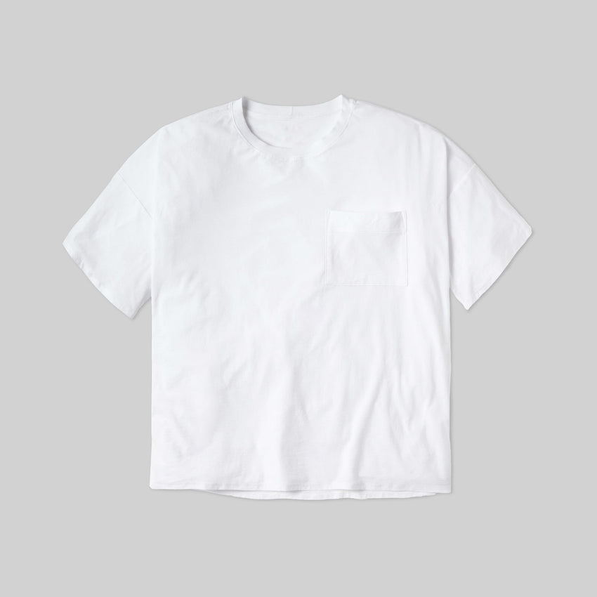 Second Image: Lahgo Sleepwear Cool Short Sleeve Tee - #White