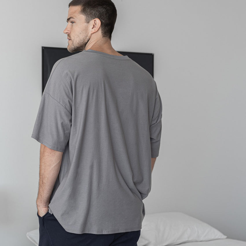 Second Image: Cool Short Sleeve Tee Lahgo Sleepwear Cool Short Sleeve Tee - #Slate