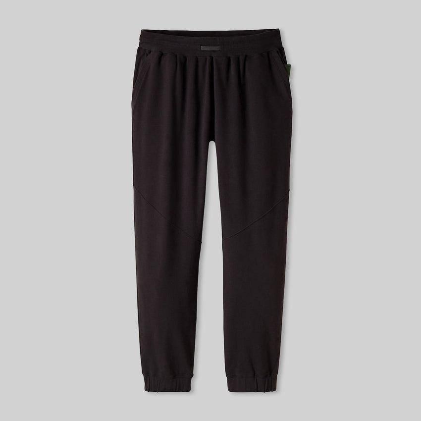 Second Image: Dreamy Wool Fleece Pant Lahgo Sleepwear Warm Pima Alpaca Fleece Pant - #Black/Forest