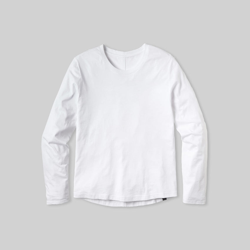Second Image: Organic Pima Long Sleeve Tee Lahgo Sleepwear Organic Long Sleeve Tee - #White