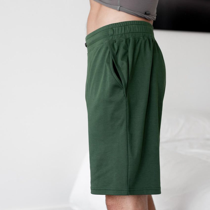 Second Image: Organic Pima Short Lahgo Sleepwear Organic Pima Short - #Forest