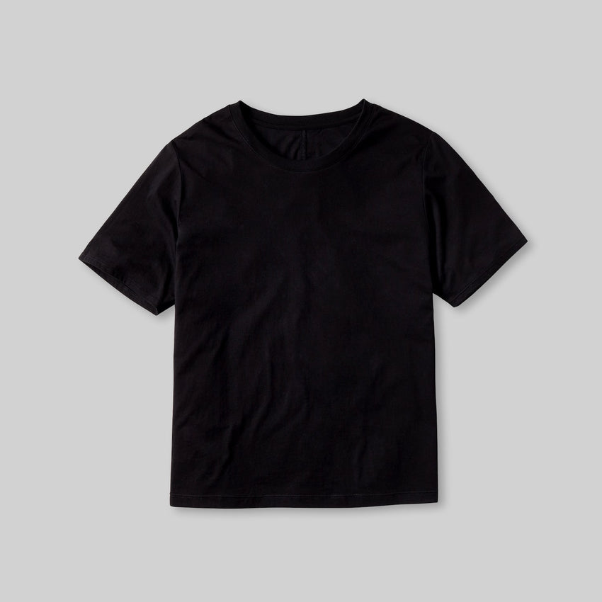 Second Image: Organic Pima Short Sleeve Tee Lahgo Sleepwear Organic Pima Short Sleeve Tee - #Black