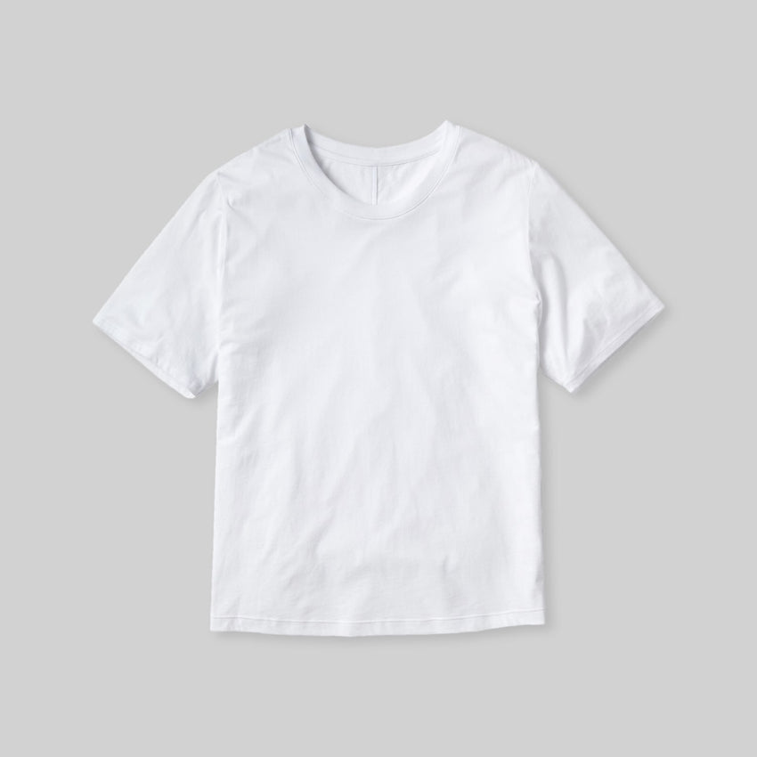 Second Image: Organic Pima Short Sleeve Tee Lahgo Sleepwear Organic Pima Short Sleeve Tee - #White