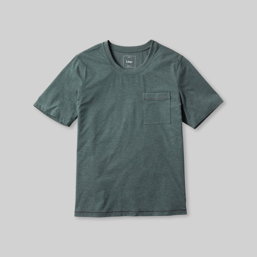 Second Image: Restore Short Sleeve Tee Lahgo Sleepwear Restore Short Sleeve Tee - #Forest