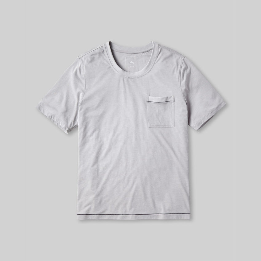 Second Image: Lahgo Sleepwear Restore Short Sleeve Tee - #Moonstone